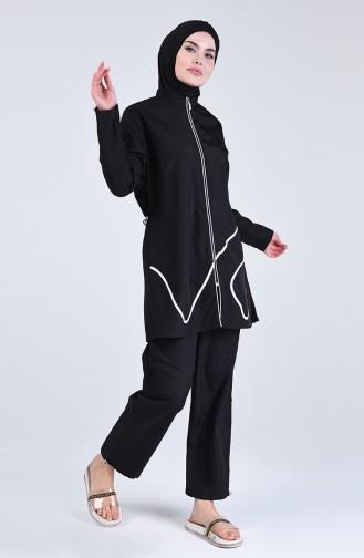 Black Swimsuit Hijab 20172-01