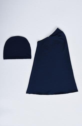Dunkelblau Hijab Badeanzug 20172-02