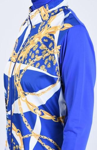 Saxon blue Swimsuit Hijab 20181-01