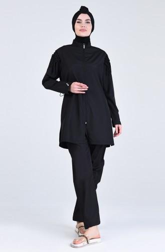 Maillot de Bain Hijab Noir 20204-01