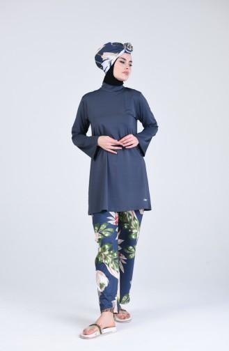Anthrazit Hijab Badeanzug 20118-03