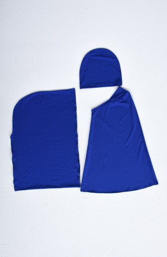 Saxon blue Swimsuit Hijab 20164-02