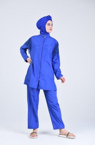 Saxon blue Swimsuit Hijab 20204-03