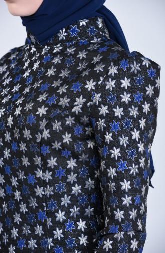 Saks-Blau Hijap Kleider 7274-01