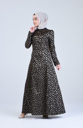 Kuplu Jakarlı Elbise 7274-04 Vizon