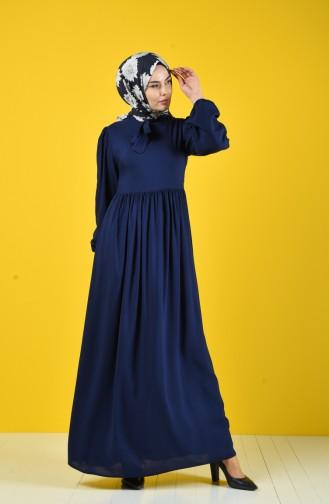 Robe Hijab Bleu Marine 8124-09
