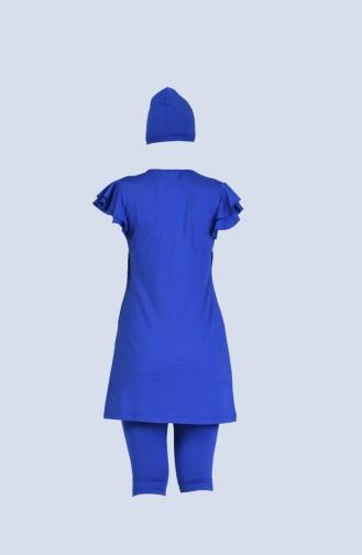 Saxon blue Swimsuit Hijab 20106-03