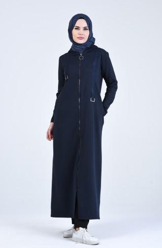 Navy Blue Abaya 0841-04