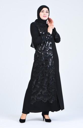 معطف فوقي أسود 8425-01