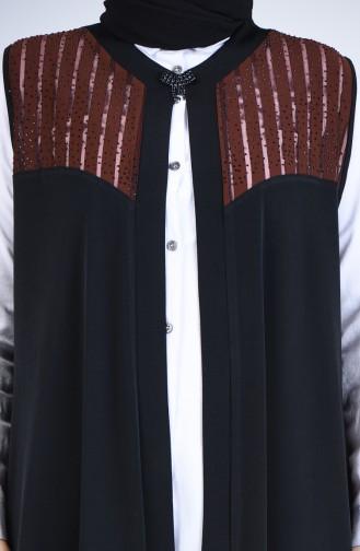 Schwarz Strickjacke 7023-01