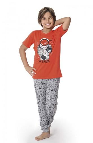 Erkek Çocuk Pijama Takım 1425 Mercan