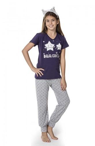 Kız Çocuk Pijama Takımı 2670 Lacivert