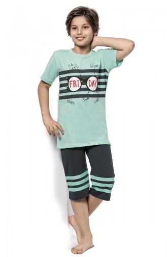 Mint green Kinderpyjama 3310
