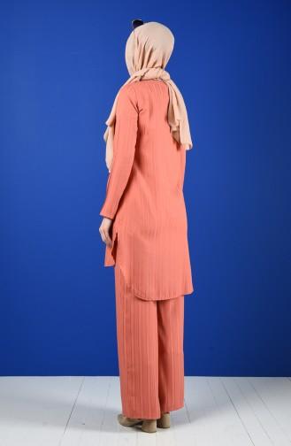 Tunik Pantolon İkili Takım 9036-03 Somon