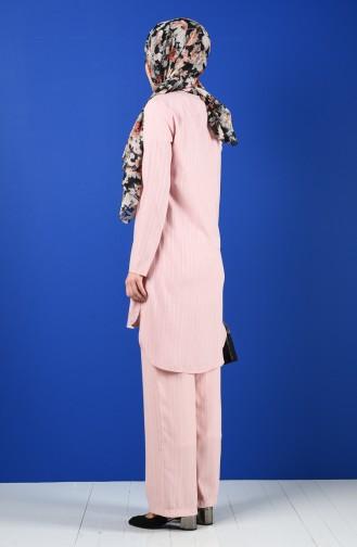 Tunik Pantolon İkili Takım 9036-06 Pudra