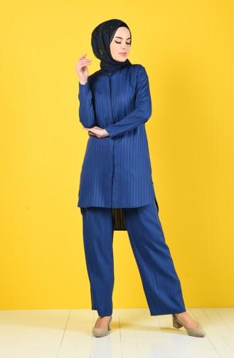 Tunik Pantolon İkili Takım 9036-07 İndigo