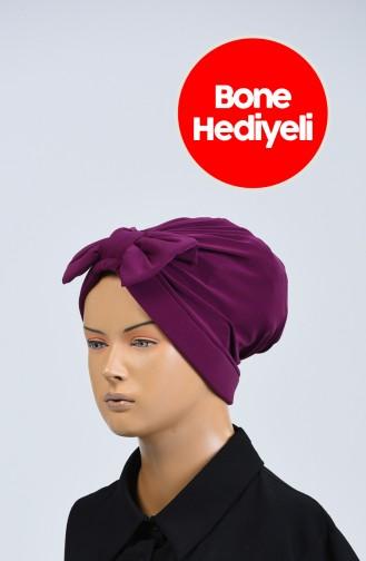 Bonnet mit Rüschenbonnet geschenk 1110-27 Hell Zwetschge 1110-27