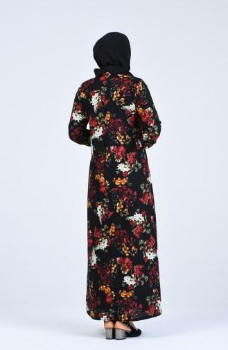Schwarz Hijap Kleider 8869-05