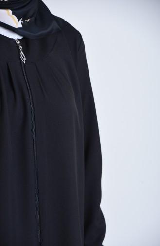 Abaya a Fermeture 2140-03 Noir 2140-03