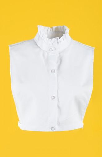 Gömlek Yaka 7841-01 Beyaz
