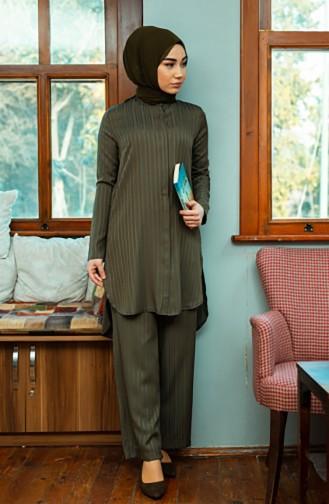 Tunik Pantolon İkili Takım 9036-09 Haki