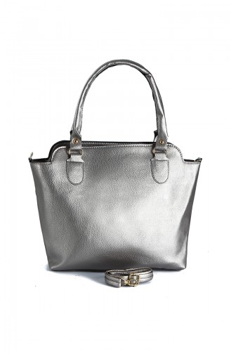 Silver Gray Shoulder Bag 231GU