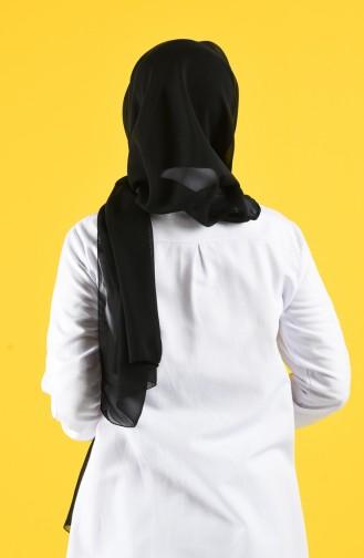Chiffon Schal mit Maske Geschenk  7016-01 Schwarz 7016-01