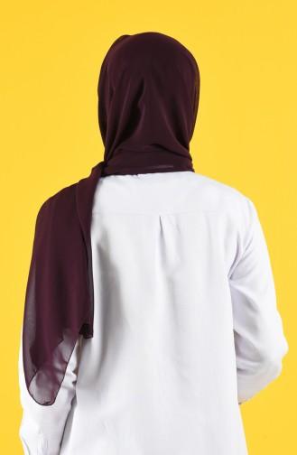 Chiffon Schal mit Maske Geschenk 7016-10 Lila 7016-10