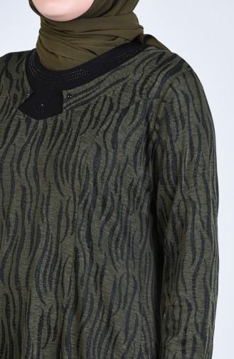 Khaki Hijap Kleider 4481-04