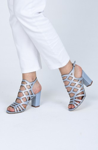 أحذية الكعب العالي أزرق 0072-03