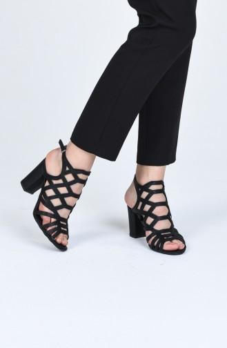 أحذية الكعب العالي أسود 0072-09