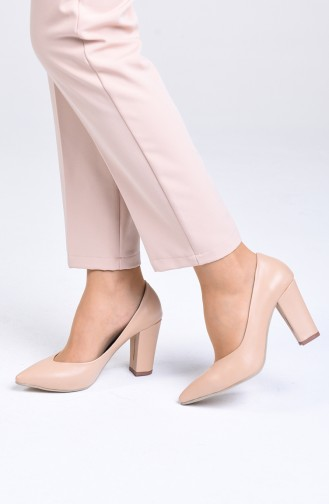 Skin color Heeled Shoes 0121-04