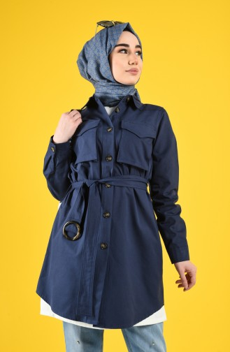 Indigo Trench Coats Models 8223-09