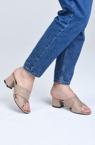 أحذية الكعب العالي لون البشرة 9100-08