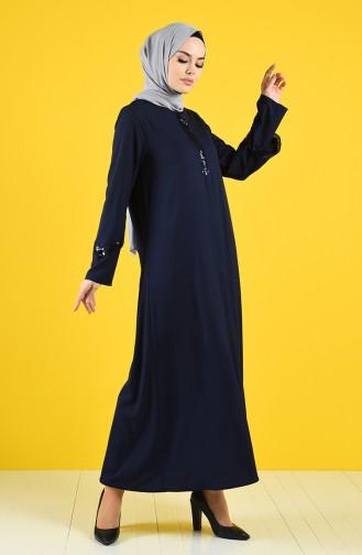 Navy Blue Abaya 1063-02