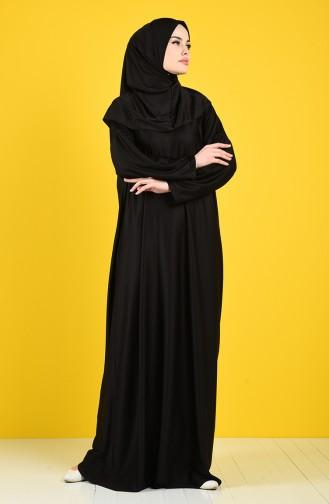 Namaz Elbisesi 1109-01 Siyah 1109-01