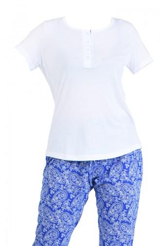Weiß Pyjama 4016-01