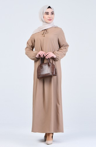 فستان بني مائل للرمادي 1385-03