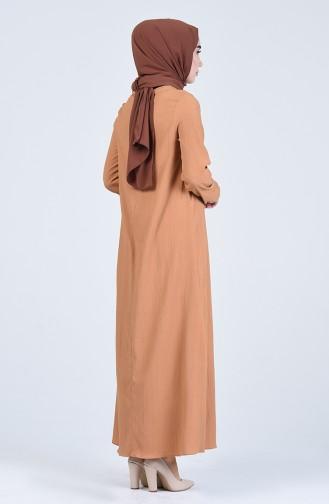 A Pleat Dress 1385-06 Dark Mink 1385-06