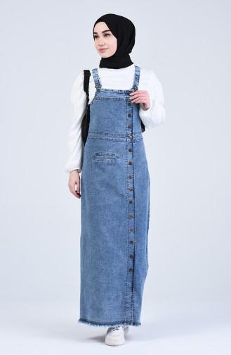Gilet أزرق جينز 3635-02