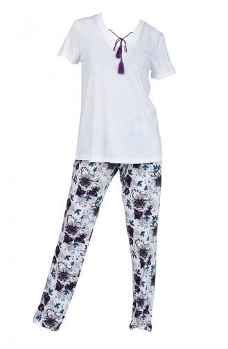 Weiß Pyjama 5006-02
