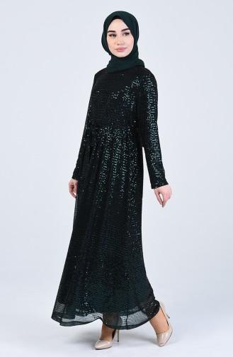 Habillé Hijab Vert emeraude 3020-03