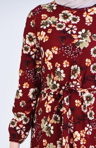 Robe Hijab Bordeaux 0367-03