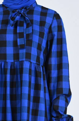 Saks-Blau Hijap Kleider 1388-06