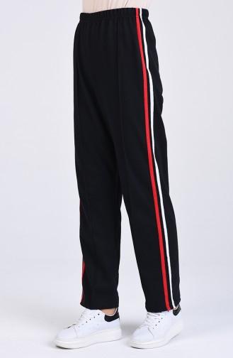 Pantalon Sport a Rayures 2500-02 Noir 2500-02