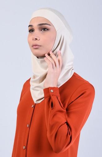 Sefamerve Hijab Gesichtsabdeckung Bonnet 8802-03 Beige 8802-03