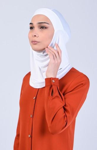Sefamerve Hijab Gesichtsabdeckung Bonnet 8802-06 Weiss 8802-06