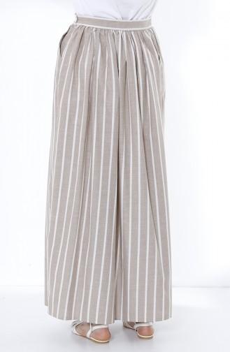 تنورة بني مائل للرمادي 5051-03