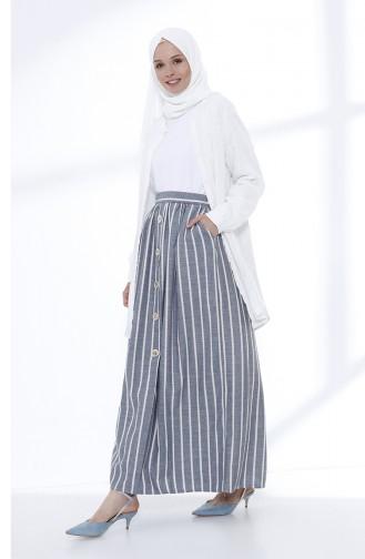 Navy Blue Skirt 5051-06