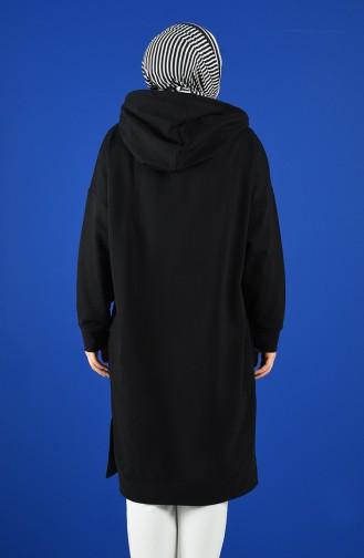 Sweatshirt Noir 0810-03